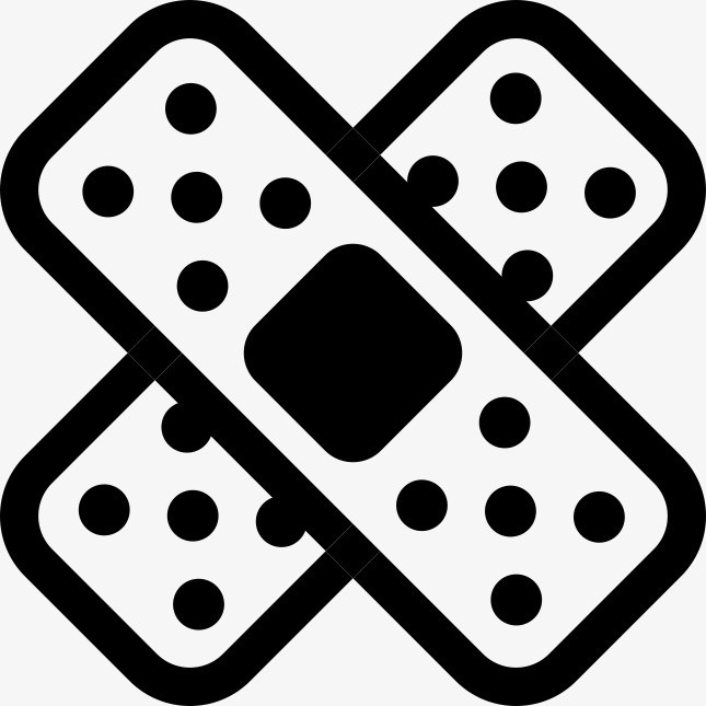Bandage clipart black and white 5 » Clipart Portal.