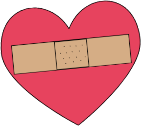 Bandaged Heart Clip Art.