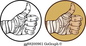 Bandaged Hand Clip Art.