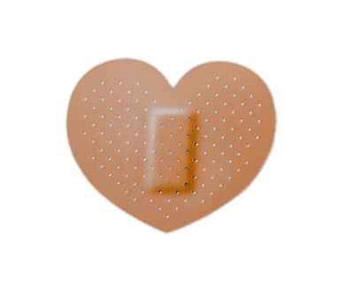 Heart Shaped Band Aid transparent PNG.