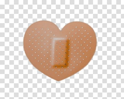 Bandaid, Heart Shaped Band Aid transparent background PNG clipart.