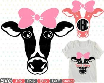 Cow with Bandana Silhouette SVG clipart cowboy western Farm girl Iron Bow  771S.