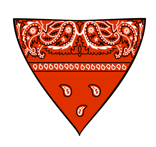 Free Red Bandana Clip Art.