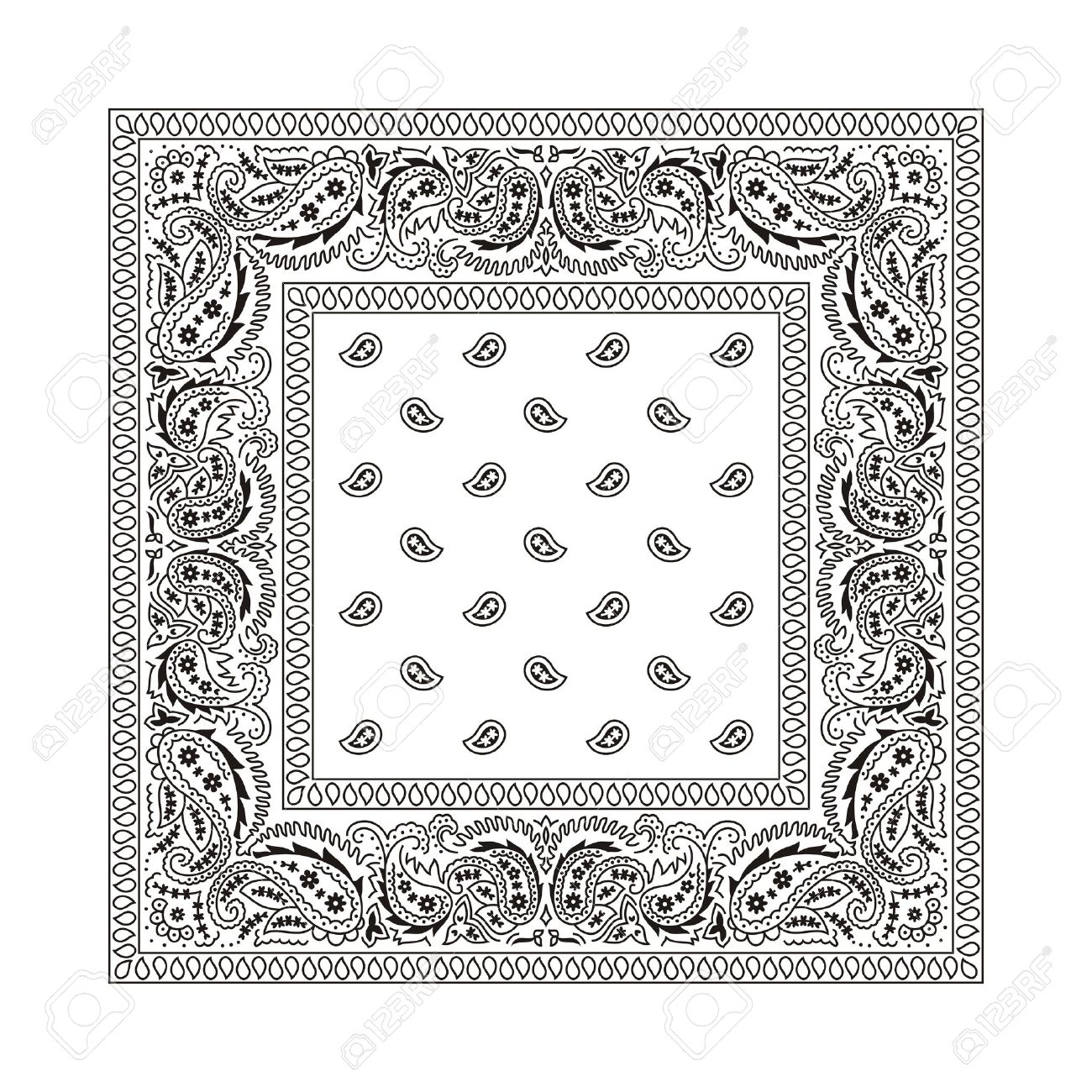 Bandana clipart black and white 5 » Clipart Station.
