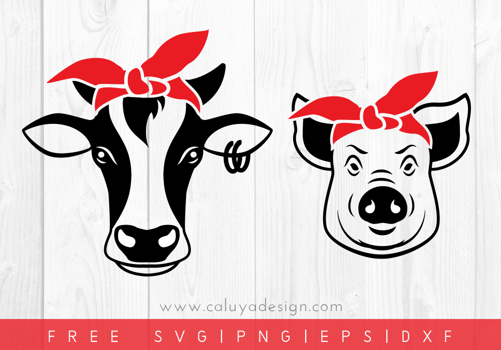 Free Animal Bandana SVG, PNG, EPS & DXF by Caluya Design.