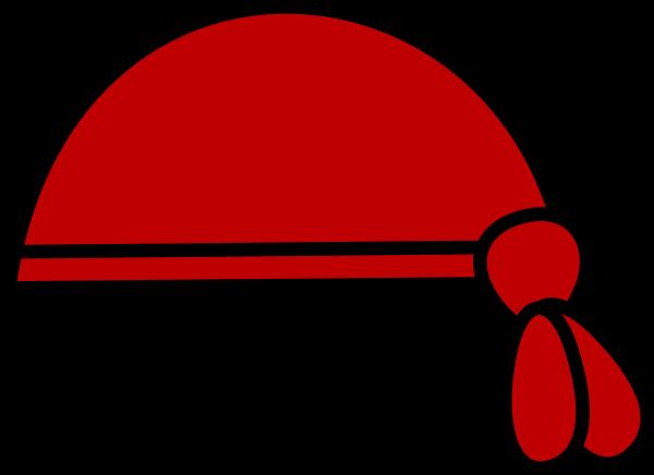 Red Pirate Bandana Clip Art at Clker.com.