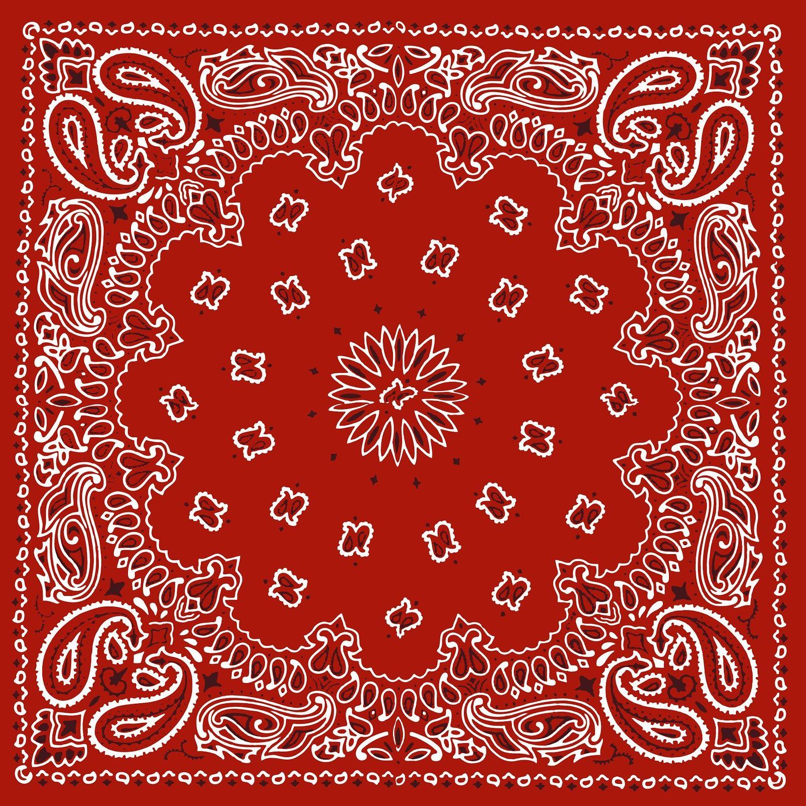 RED BANDANA, PRINTABLE BACKGROUND.