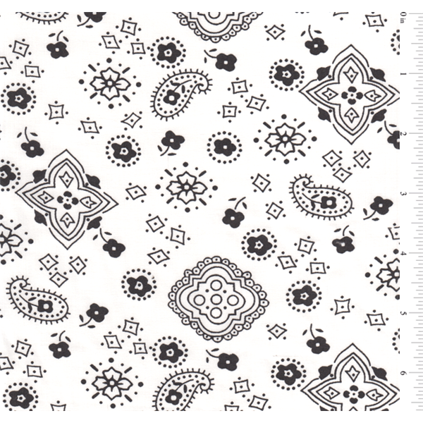 White Bandana Print.