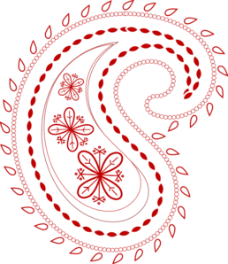 Red Bandana clip art.