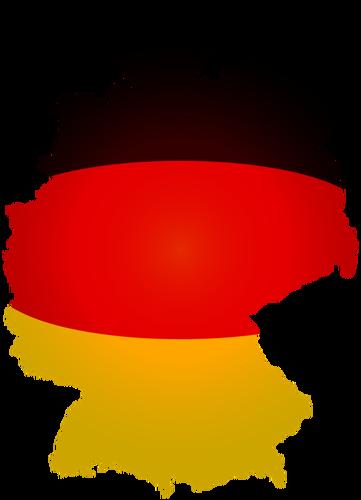 Mapa de bandeira política da imagem vetorial Alemanha.