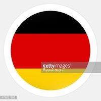 Gráfico DE Ícone DE Bandeira Alemanha imagens vetoriais.