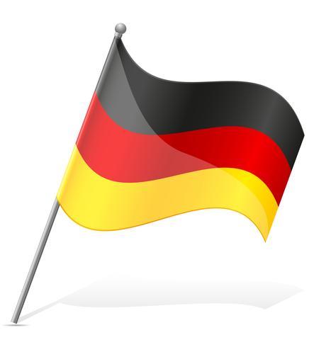 bandeira da ilustração vetorial de Alemanha.
