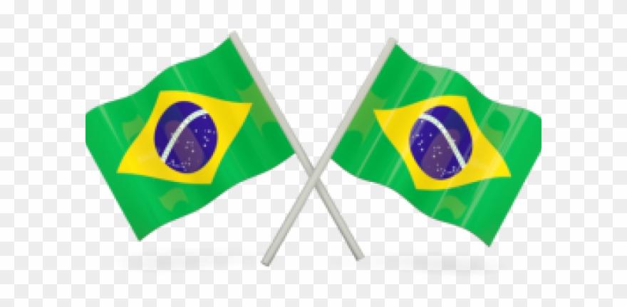 Duas Bandeiras Do Brasil Clipart.