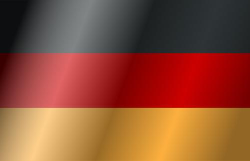 Bandeira da Alemanha vector clipart.