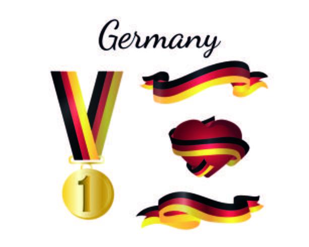 Bandeira da medalha da Alemanha.