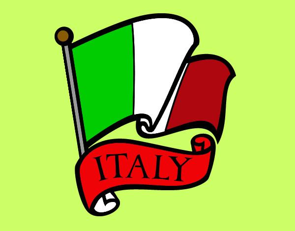 Desenho de Bandeira da Itália pintado e colorido por Nercilia o.