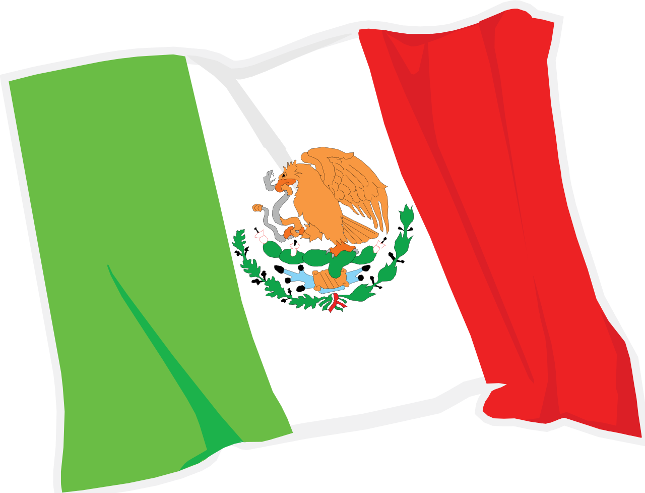 Mexican Flag Waving Png.