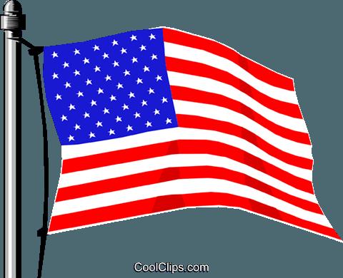 United States flag Royalty Free Vector Clip Art illustration.