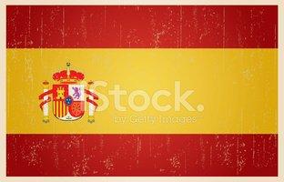Vintage Bandeira Espanhola Grunge imagens vetoriais.