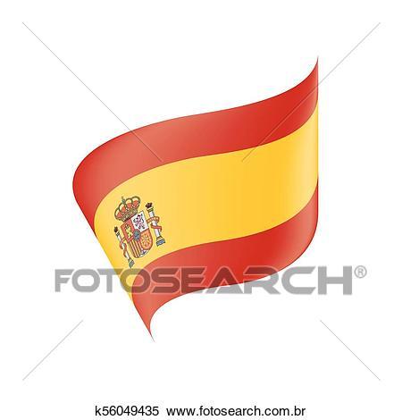 Bandeira espanha, vetorial, ilustração Clipart.