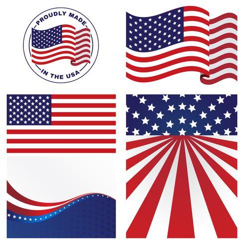 Vetores de bandeiras dos EUA.