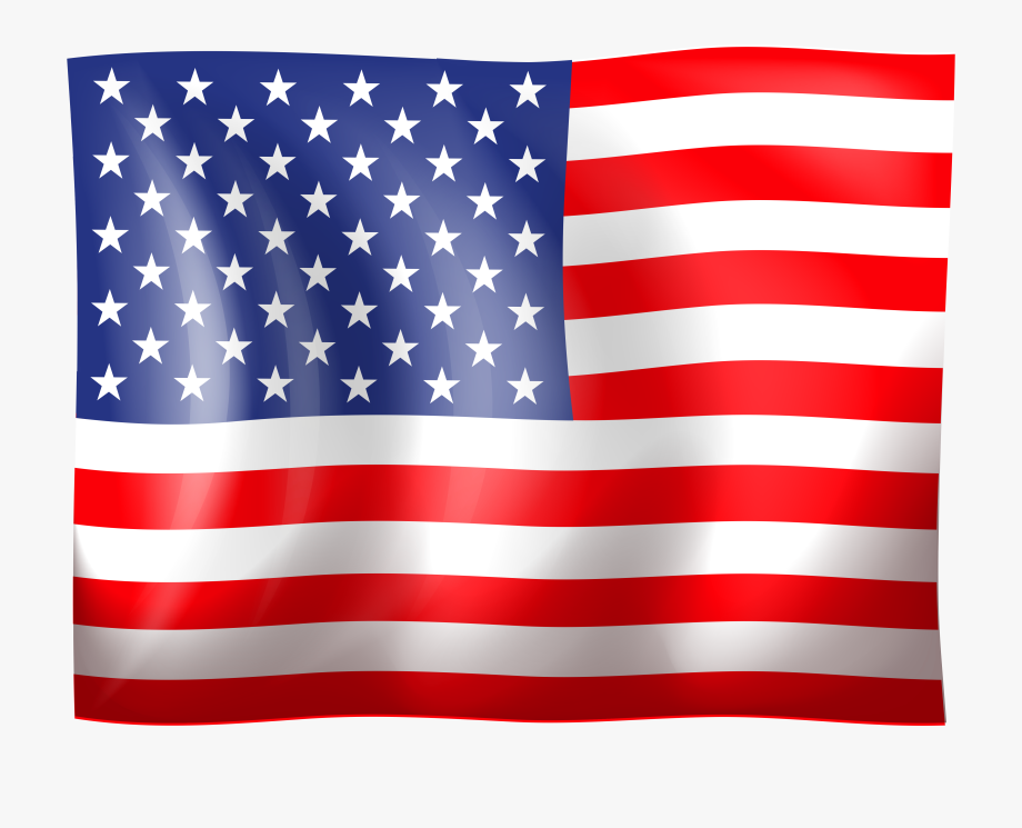 American Flag Clip Art High Quality Image.