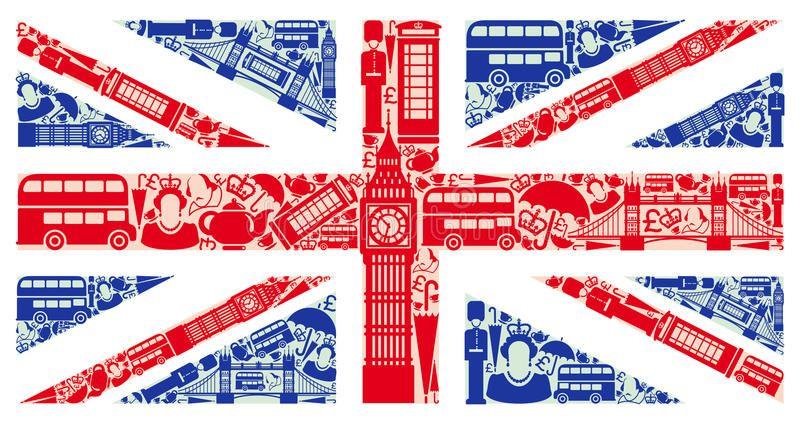 Foto sobre Bandeira de Inglaterra dos símbolos do Reino.