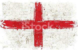Bandeira Da Inglaterra NA Parede imagens vetoriais.