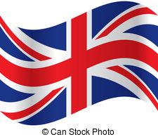 Waving, grande, bandeira, inglaterra..