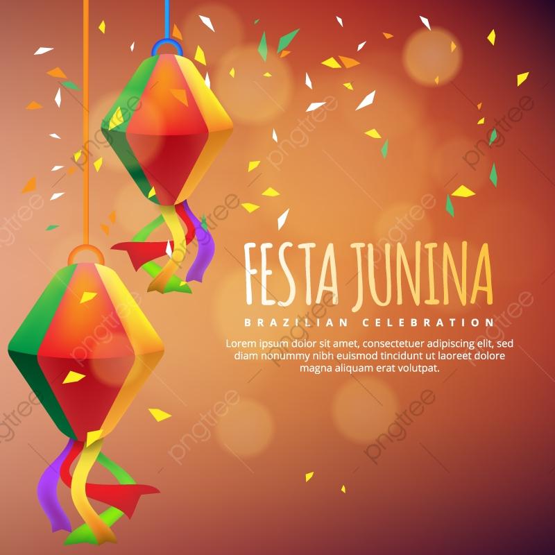 Festa Junina Festa Ilustração Com Bandeiras E Lanterna De Papel No.