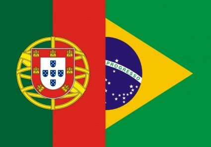 Free Flags Of Brazil And Portugals Clipart and Vector.
