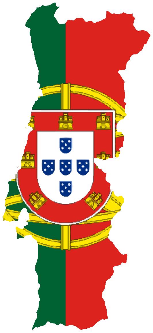 Flag Map of Portugal Drapeau Bandiera Bandeira Flagga.