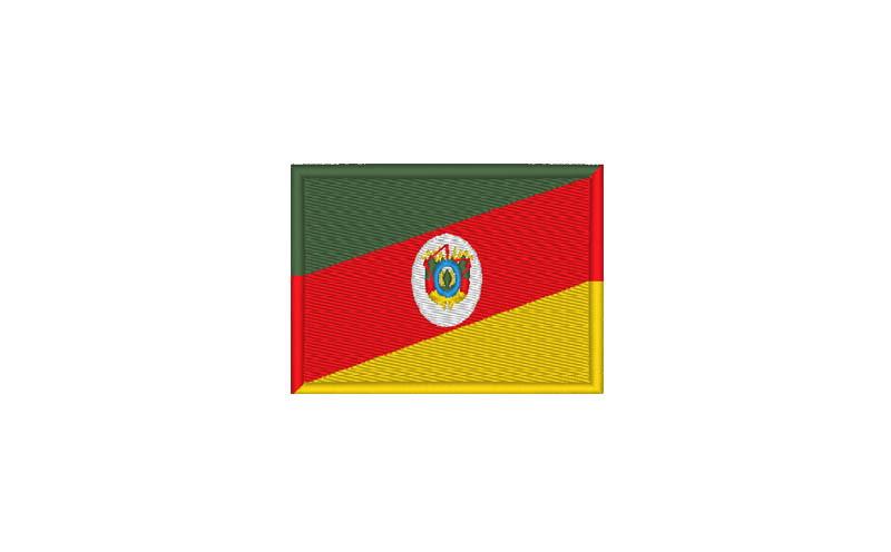 Bandeira Bordada Termocolante Rio Grande do Sul.