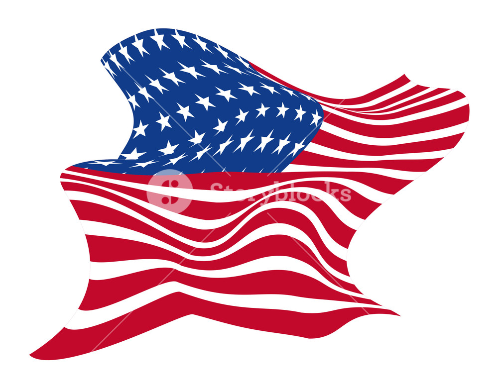 Abstract Usa Flag Design Royalty.