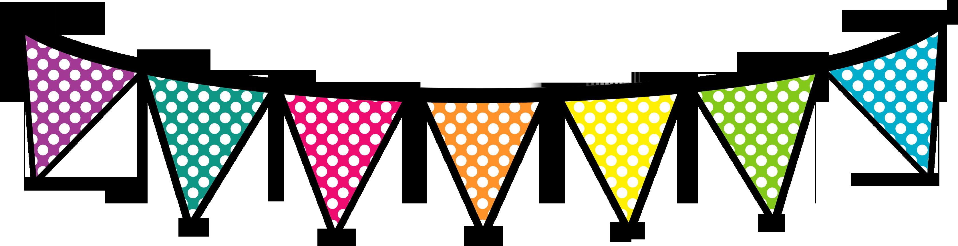 Triangular clipart polka dot banner, Triangular polka dot.