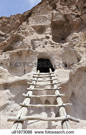 Pictures of USA, New Mexico, Bandelier National Park. Pueblo.