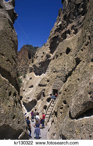 Stock Photo of Los Alamos New Mexico Bandelier National Monument.