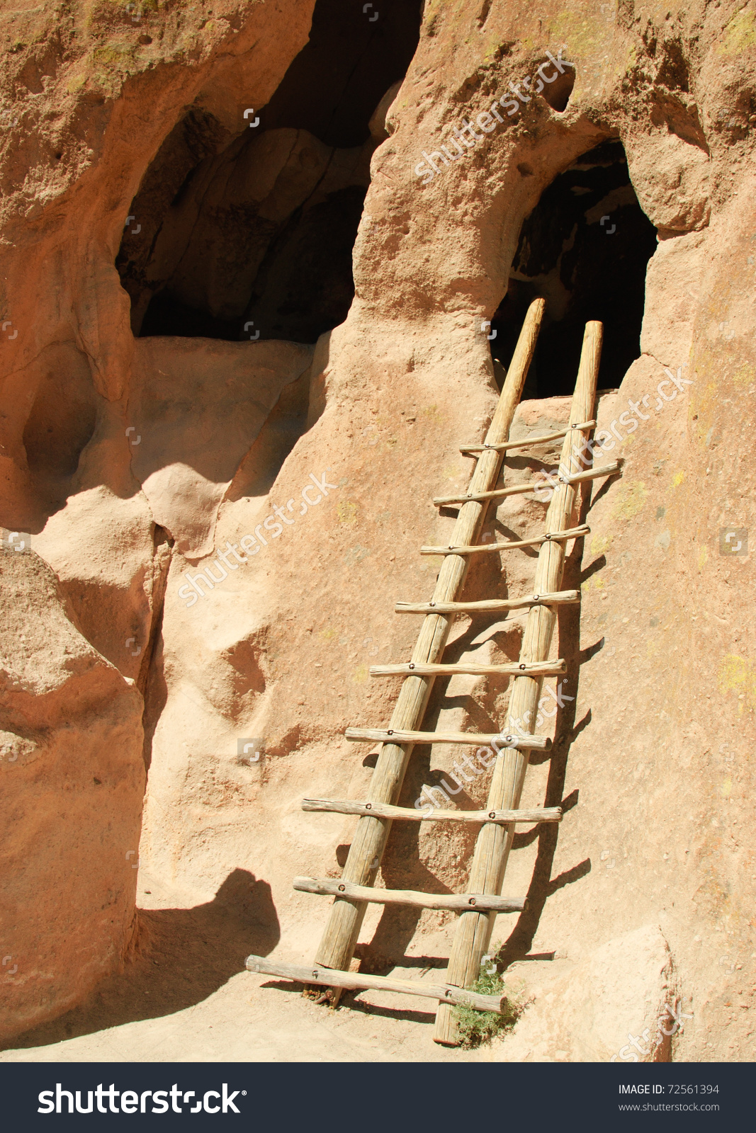 Wooden Ladder Native American Indian Cliff Stock Photo 72561394.