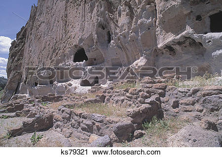 Stock Photography of Bandelier National Monument.
