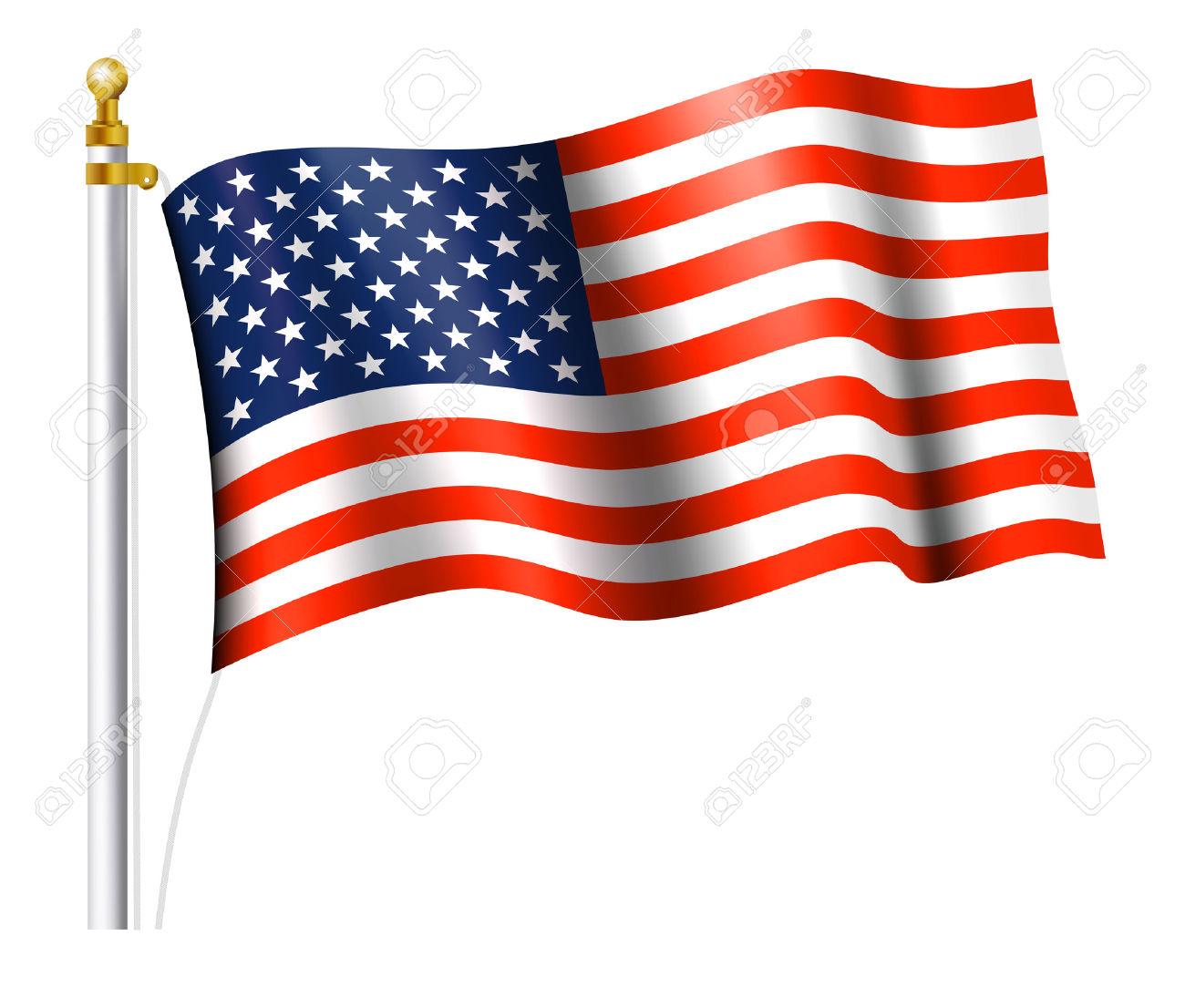 Americano flag clipart.