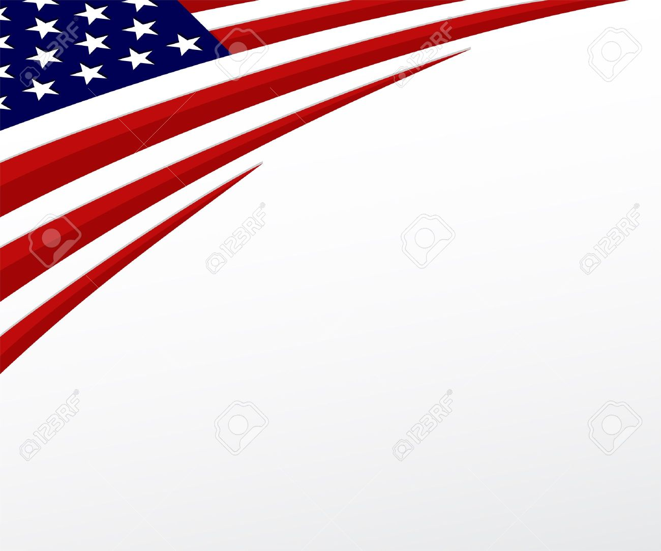 USA Flag United States Flag Background Vector Royalty Free.