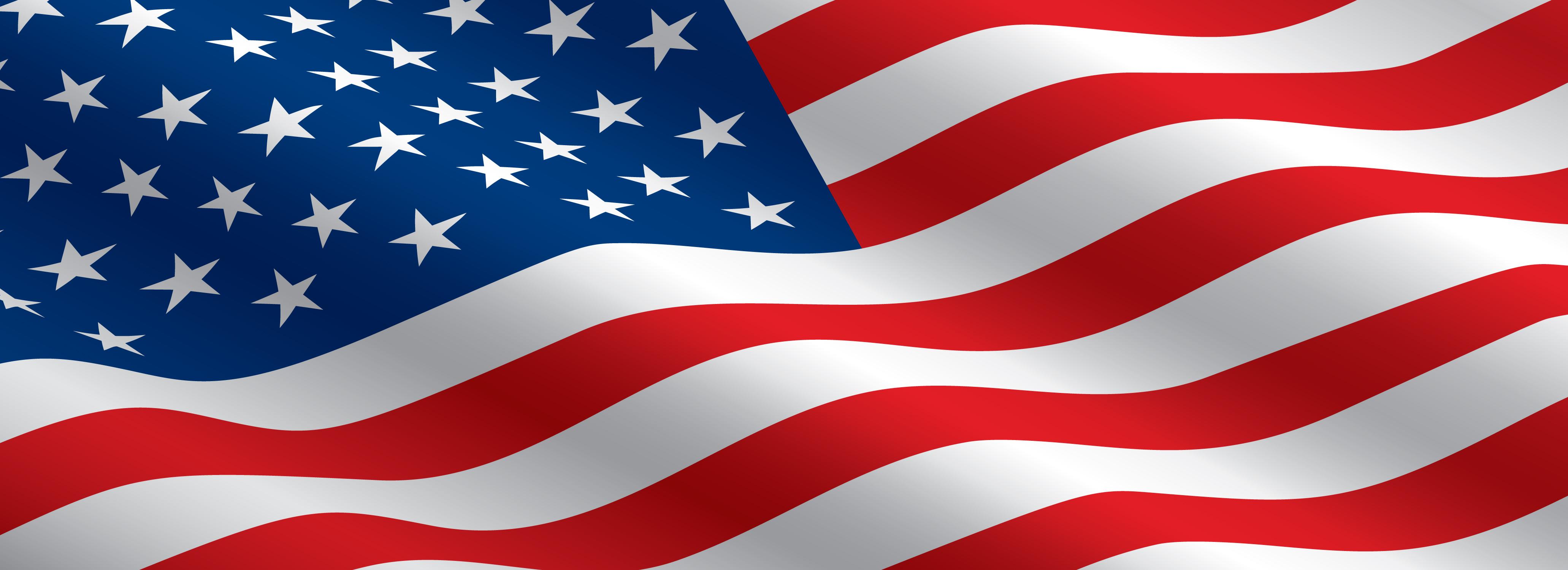 Us flag banner clipart.