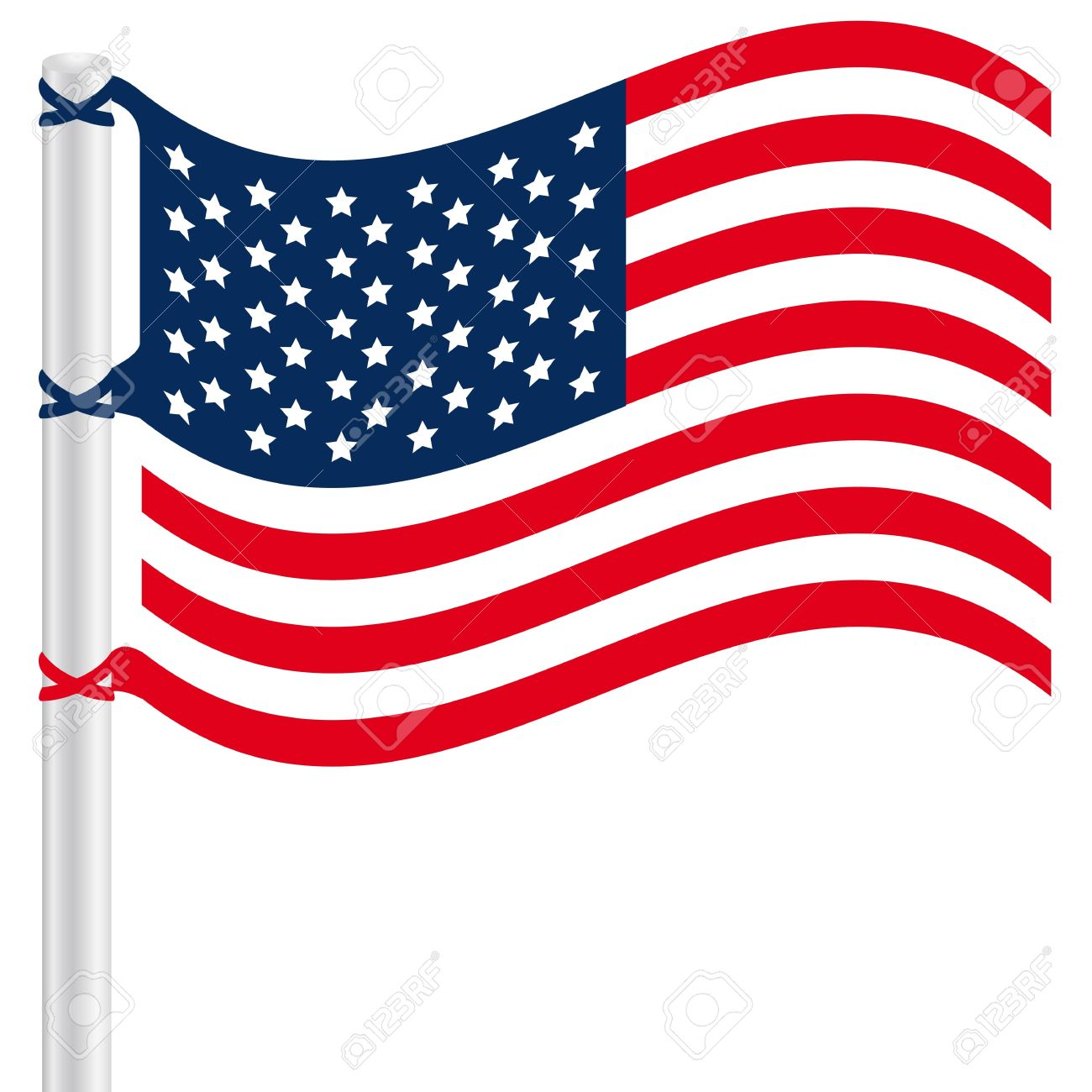 American flagpole clip art.