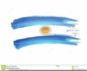 Bandera Argentina Clipart.