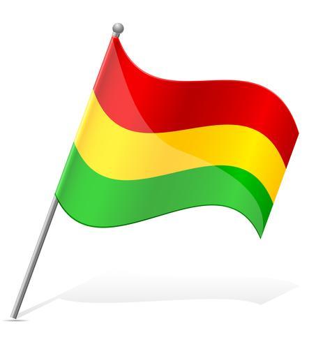 flag of Bolivia vector illustration.