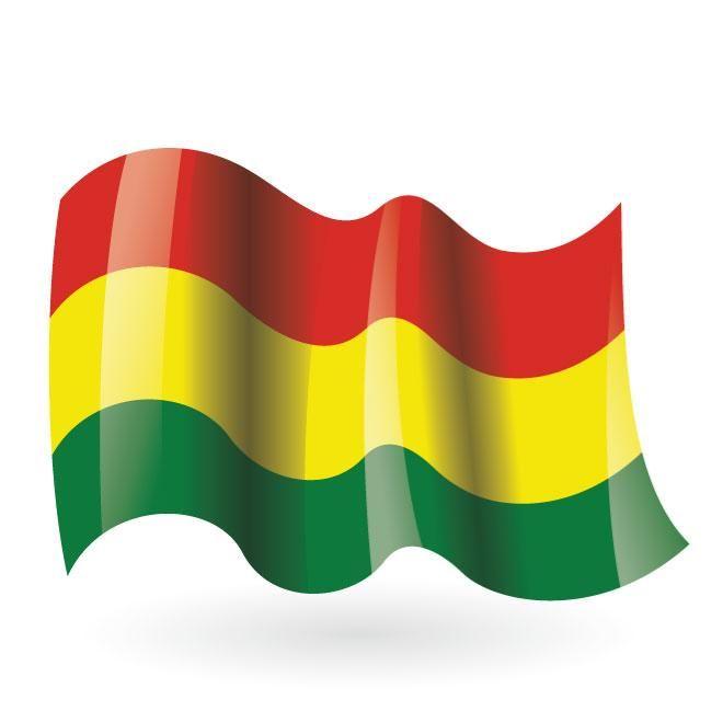 Bolivian flag vector clip art.