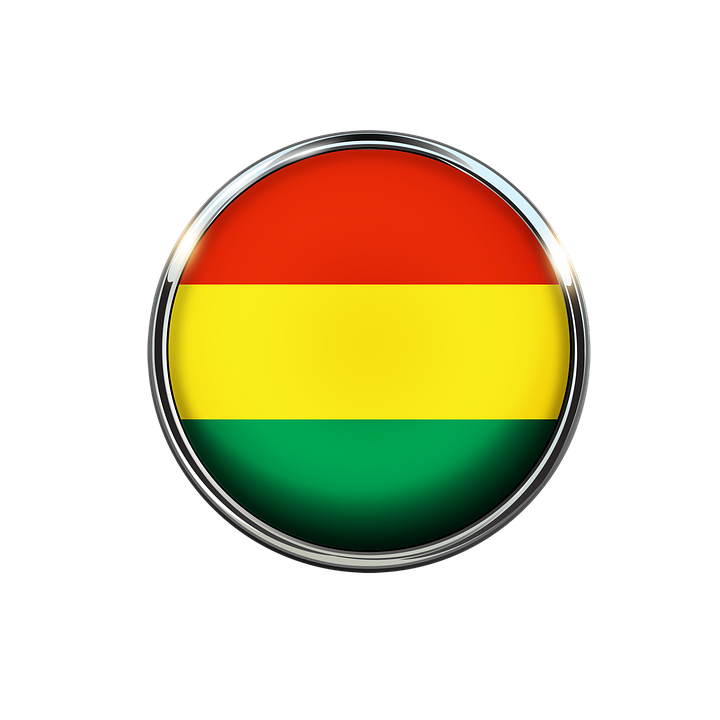 Bolivia Flag Circle South.