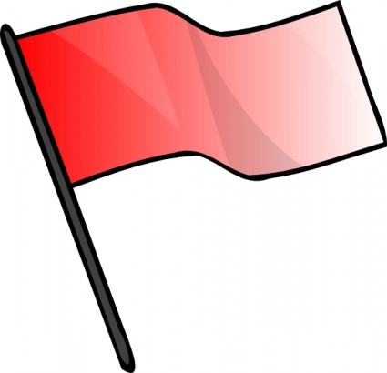 Red Flag Clip Art.