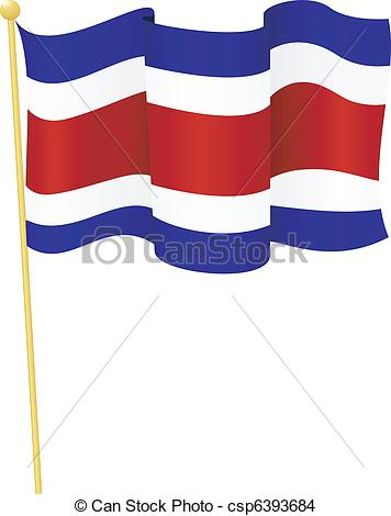 EPS Vector of flag of Costa Rica. vector.