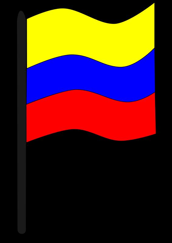 Free Clipart: Bandera colombiana.